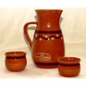 Set of pitcher and two glasses