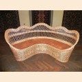 Wicker corner sofa