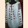 Moldavian traditional women's embroidered blouse